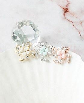1050218 - <ER2264_DJ06> [clip earring]手リサ花clip earring